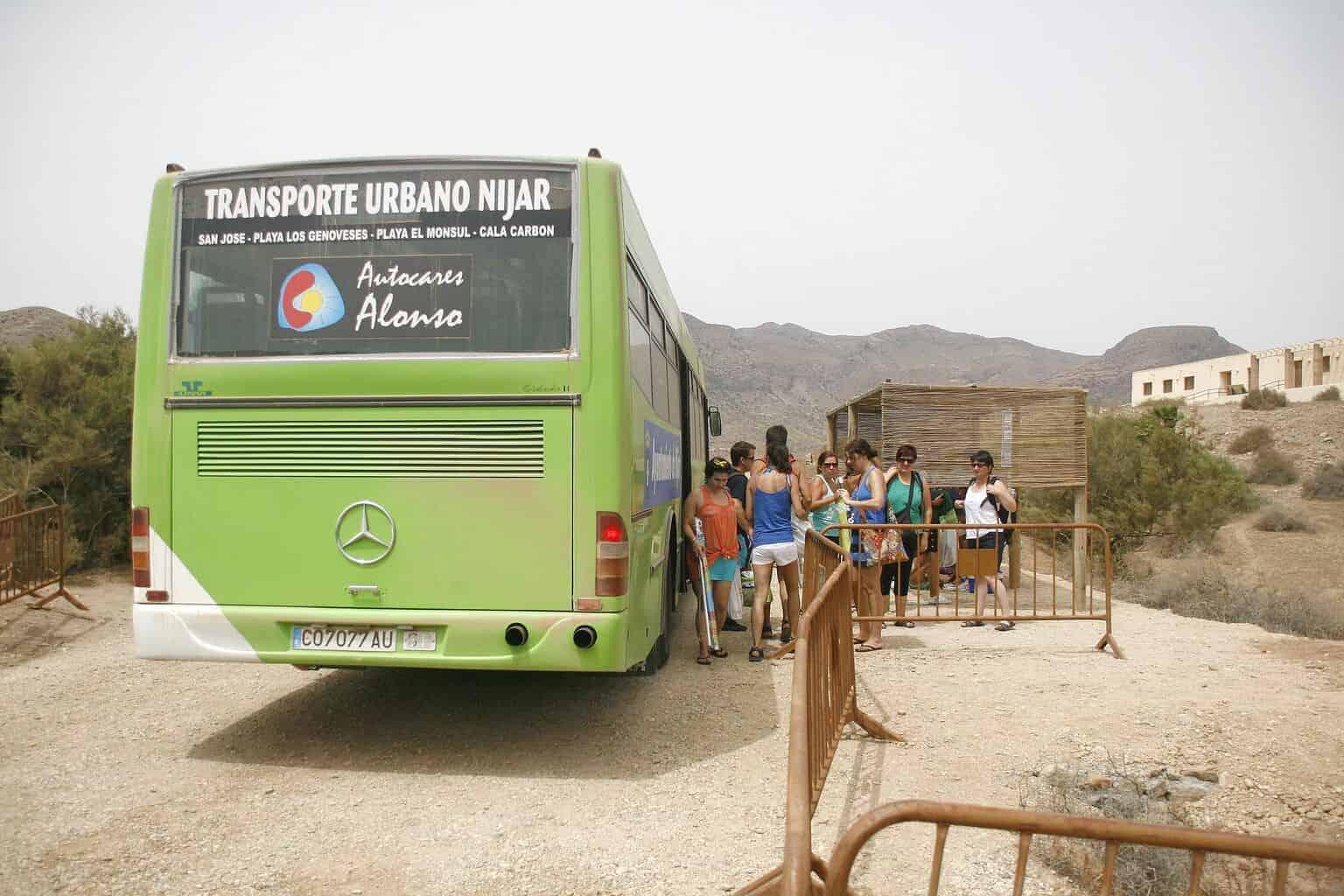 transporte publico en Cabo de Gata